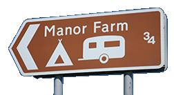 Manor Farm direction sign