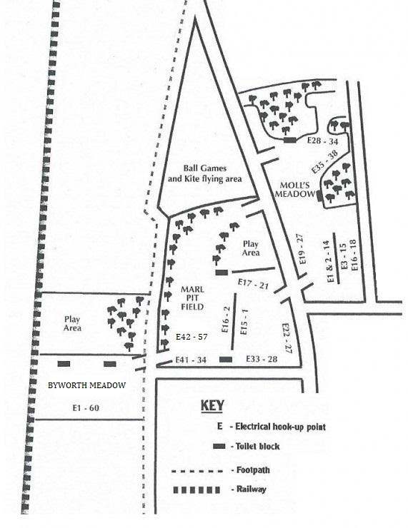 Manor Farm Caravan & Camping Site - Site Map